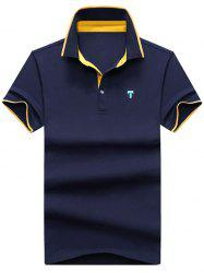 Contrast Trim Logo Polo Shirt