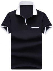 Faux Pocket Two Tone Polos