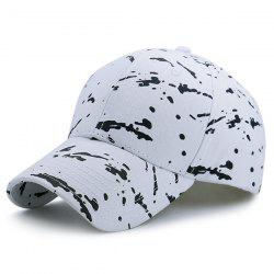 Spot Sunscreen Baseball Hat - WHITE