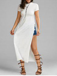 High Slit Tee Maxi Dress
