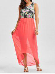 High Low Floral Long Swing Dress for Wedding