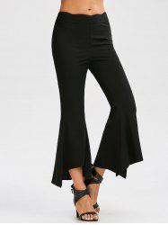 High Waisted Ninth Flare Pants - BLACK