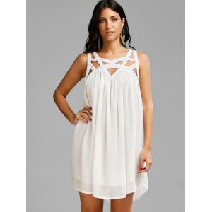 Caged Cut Out en mousseline de soie Shift Summer Tank Dress -