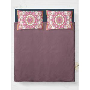 Mandala Print Bed Double Pillow Case - Pink - W20 Inch * L30 Inch