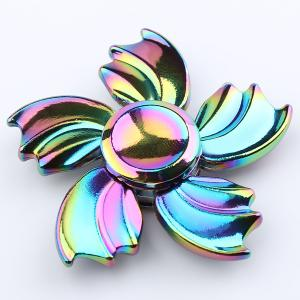 Fidget Toy Colorful Fish Fin Metal Hand Spinner - Coloré 6*6*1.5CM
