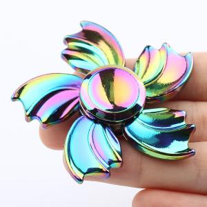 Fidget Toy Colorful Fish Fin Metal Hand Spinner - COLORFUL 6*6*1.5CM