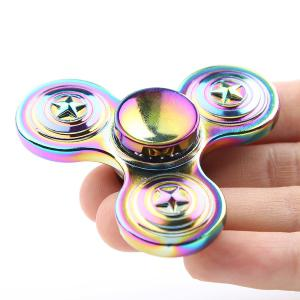 Colorful Star EDC Zinc Alloy Fidget Spinner - COLORFUL 6.5*6.5*1.7CM