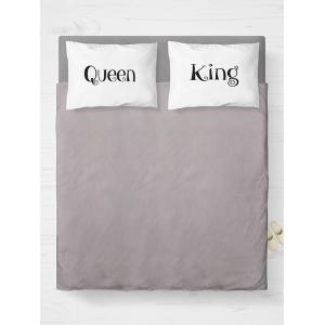 Double King Queen Print Bed Throw Pillowcase