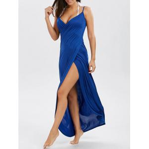 Wrap Front Maxi Slip Cover-Up Dress