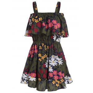 Floral Print Flounce Mini Dress