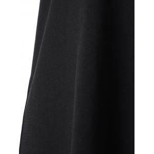 Cut Out Overlap Sleeveless Handkerchief Dress - BLACK 2XL