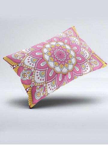 Affordable Mandala Print Bed Double Pillow Case - W20 INCH * L26 INCH PINK Mobile