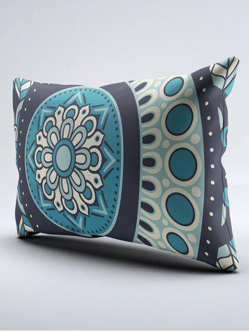 Store Bohemia Style Floral Print Double Pillow Case - W20 INCH * L26 INCH TURQUOISE BLUE Mobile