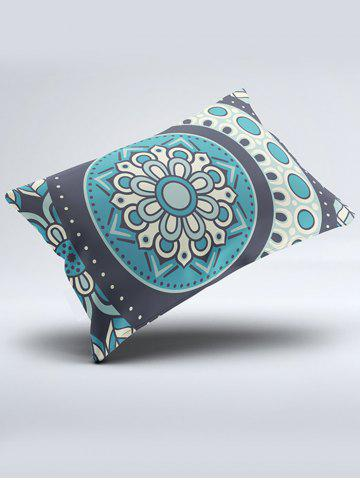 Shop Bohemia Style Floral Print Double Pillow Case - W20 INCH * L26 INCH TURQUOISE BLUE Mobile