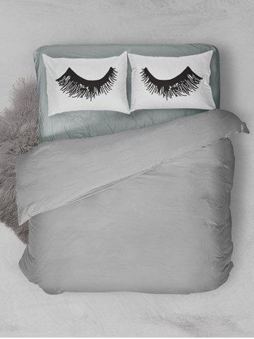 Store Eyelashes Print Bed Double Pillow Case - W20 INCH * L30 INCH WHITE Mobile