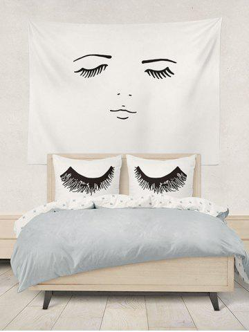 Shop Eyelashes Print Bed Double Pillow Case - W20 INCH * L30 INCH WHITE Mobile