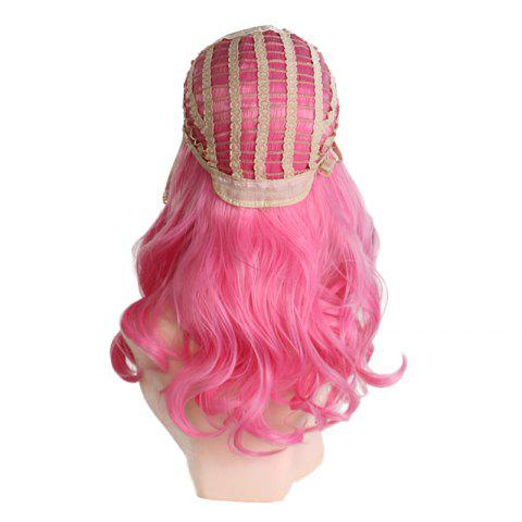 Store Center Parting Long Wavy Ombre Colormix Lolita Synthetic Wig - BLACK AND RED  Mobile