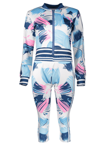 Best Bomber Running Jacket with Printed Pants - S BLUE Mobile