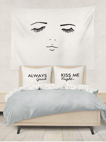 Unique Brushed Fabirc Letters Printed Double Pillow Shams - W20 INCH * L30 INCH WHITE AND BLACK Mobile