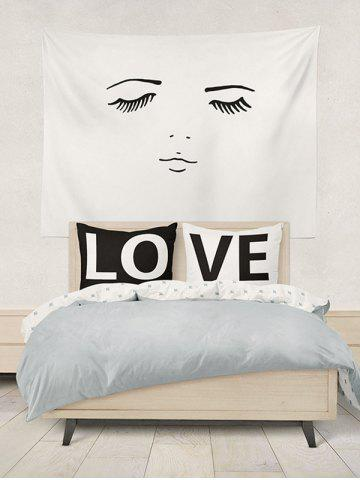Unique 2Pcs Letter Love Bedroom Pillowcase Cover - W20 INCH * L26 INCH WHITE AND BLACK Mobile