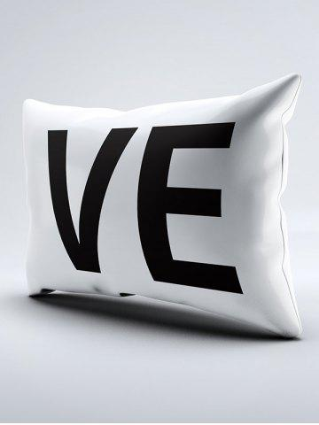 Sale 2Pcs Letter Love Bedroom Pillowcase Cover - W20 INCH * L30 INCH WHITE AND BLACK Mobile