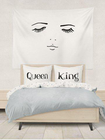 Sale Double King Queen Print Bed Throw Pillowcase - W20 INCH * L30 INCH WHITE Mobile