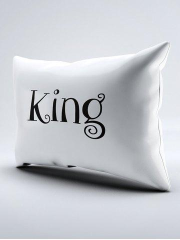 Discount Double King Queen Print Bed Throw Pillowcase - W20 INCH * L30 INCH WHITE Mobile