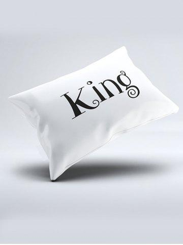 Buy Double King Queen Print Bed Throw Pillowcase - W20 INCH * L30 INCH WHITE Mobile
