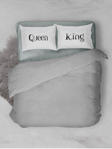 Shops Double King Queen Print Bed Throw Pillowcase - W20 INCH * L30 INCH WHITE Mobile