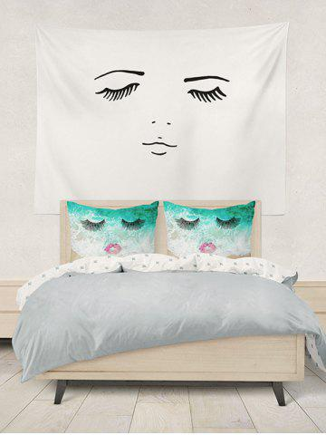 Hot Brushed Fabirc Face Beach Printing Double Pillow Case - W20 INCH * L30 INCH GREEN Mobile