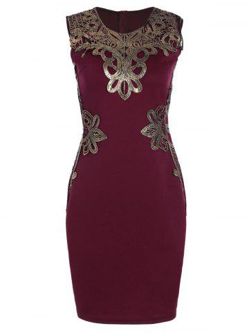 Best Lace Applique Pencil Sheath Dress