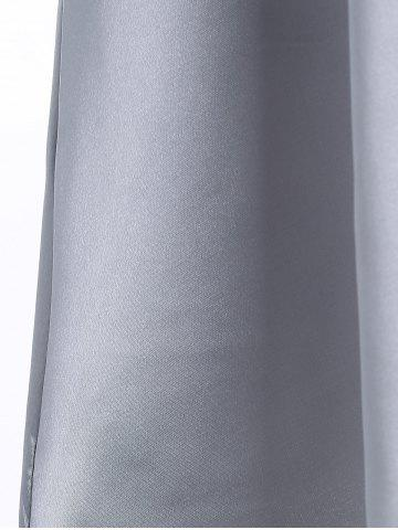 Shops Satin Mini Sleeveless Dress - M GRAY Mobile