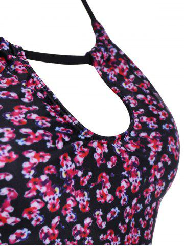 Buy Floral Swim Top with Panties Tankini Set - L FLORAL Mobile