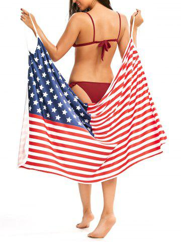 American Flag Patriotic Cover Up Slip Dress Multicolore S