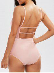 High Waisted Backless Cami One Piece Swimsuit