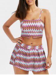 Cami Printed Skirted Bikini Swimwear