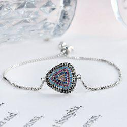 Ethnic Rhinestoned Triangle Beads Bracelet