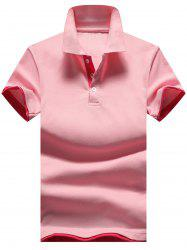 Two Tone Half Button Golf Shirt