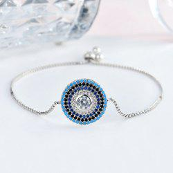 Rhinestoned Circle Box Chain Bracelet
