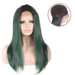 Free Part Silky Long Straight Colormix Lace Front Synthetic Wig