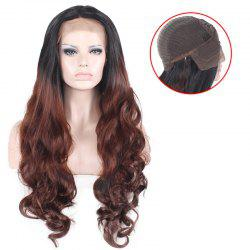 Ombre Long Free Part Layered Wavy Lace Front Synthetic Wig