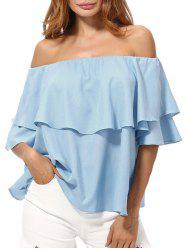 Overlay Chiffon Off The Shoulder Top -