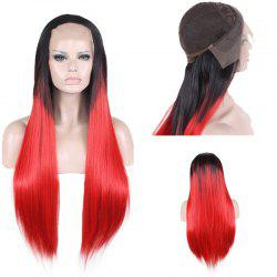 Colormix Long Free Part Two Tone Straight Lace Front Synthetic Wig