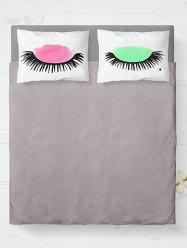 Eyelashes Printed Bedroom Double Pillow Case