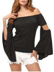 Flared Sleeve Off The Shoulder Top