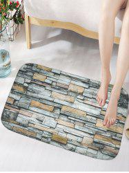 Vintage Brick Wall Skidproof Flannel Bathroom Rug
