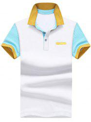 Color Block Faux Pocket Polo Shirt