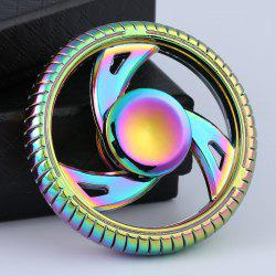 Wheel Shaped Zinc Alloy EDC Fidget Hand Spinner -