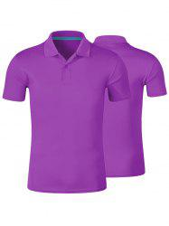 Plain Short Sleeve Button Polo Shirt
