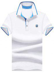 Logo Patch Two Tone Polo Shirt